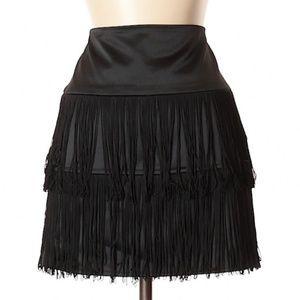 The Limited Black Fringe Flapper Skirt